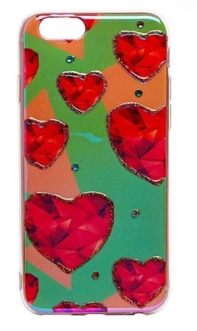 Чехол - накладка для iPhone 6 / 6S Plus силикон Hearts