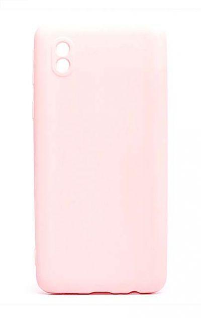 Чехол - накладка для Samsung A01 Core силикон Activ Full Light Pink