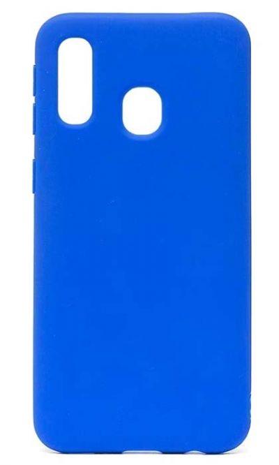 Чехол - накладка для Samsung A40 силикон Gloss Blue