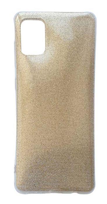 Чехол - накладка для Samsung A31 силикон Glamour Gold