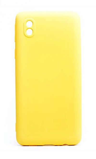 Чехол - накладка для Samsung A01 Core силикон Activ Full Yellow