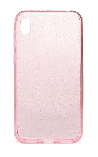 Чехол - накладка для Honor 8S / Huawei Y5 (2019) силикон Transparent Tinsels Pink