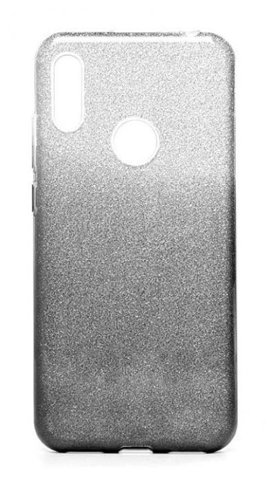 Чехол - накладка для Honor 8A / Huawei Y6 (2019) силикон Gradient Tinsel Black