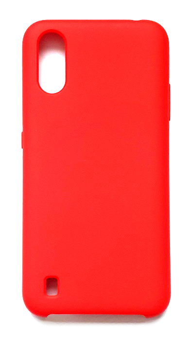Чехол - накладка для Samsung A01 / M01 Silicone Cover Red org