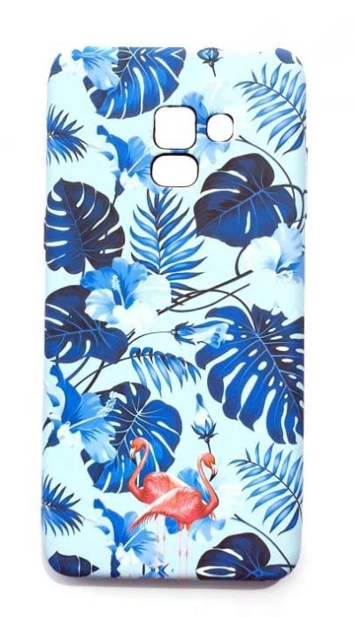Чехол - накладка для Samsung A8 Plus (2018) Luxo Creative Flamingo Blue