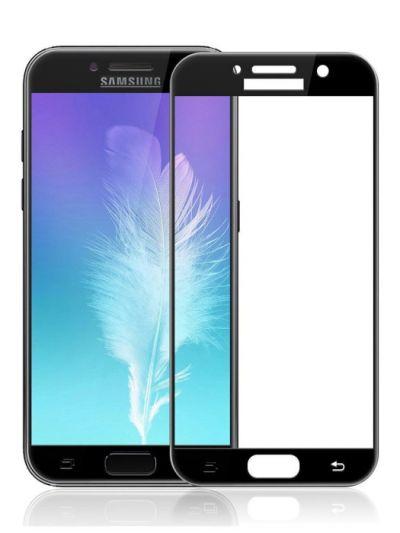 Защитное стекло для Samsung A3 (2017), на весь экран, черная рамка