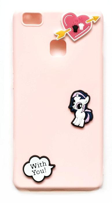 Чехол - накладка для Huawei P9 Lite силикон Pink Pony