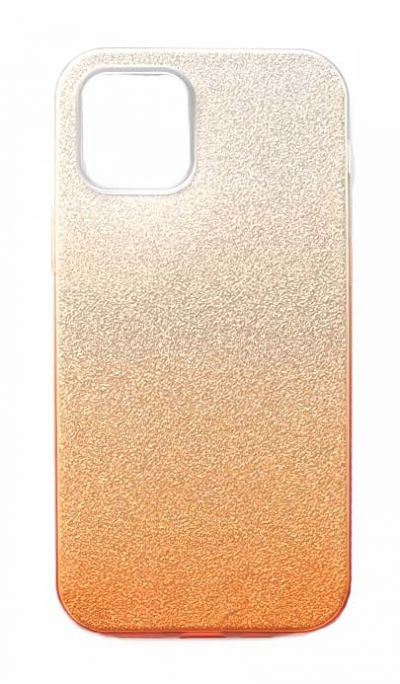 Чехол - накладка для iPhone 12 / 12 Pro силикон Gradient Tinsel Gold