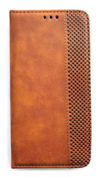 Чехол - книжка для Samsung M31s полиуретан Stitched Brown