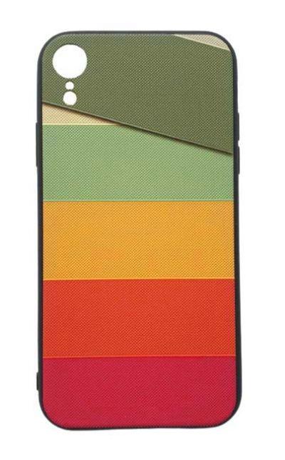 Чехол - накладка для iPhone XR силикон Colored Lines Fhorme