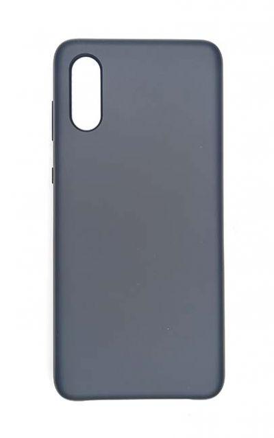 Чехол - накладка для Samsung A02 Silicone Cover Dark Blue