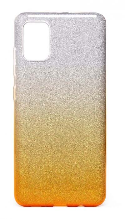 Чехол - накладка для Samsung A51 силикон Gradient Tinsel Gold
