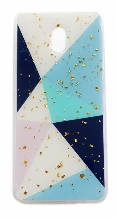 Чехол - накладка для Xiaomi Redmi 8A силикон Sparkles Abstract №4