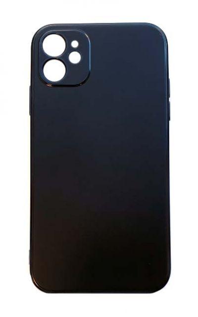 Чехол - накладка для iPhone 11 силикон Gloss Black org