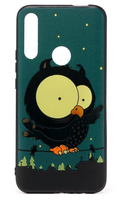 Чехол - накладка для Honor 9X силикон Frightened Owl