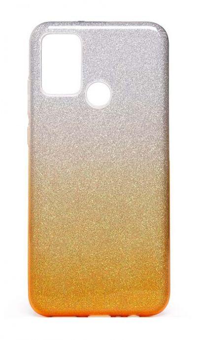 Чехол - накладка для Samsung A21s силикон Gradient Tinsel Gold