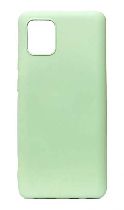 Чехол - накладка для Samsung Note 10 Lite силикон Activ Full Light Green