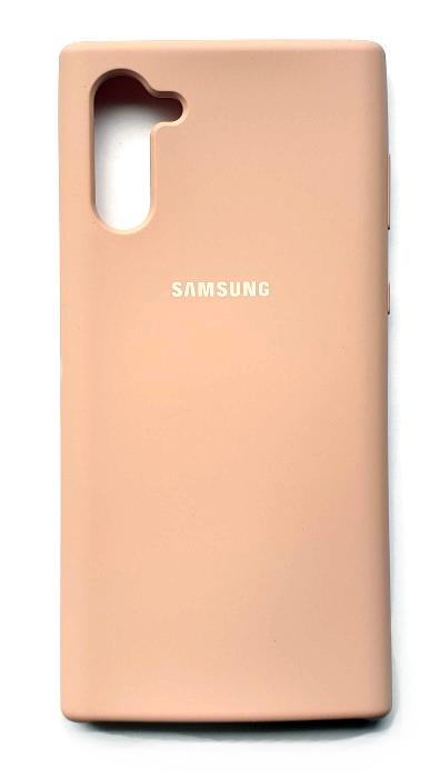 Чехол - накладка для Samsung Note 10 Silicone Cover Pink Sand
