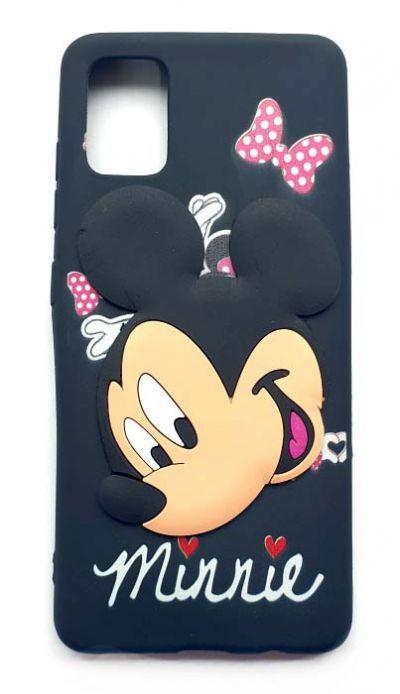 Чехол - накладка для Samsung A51 силикон Mickey's face Black
