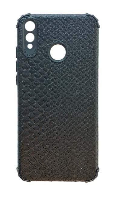Чехол - накладка для Honor 8X силикон Crocodile Skin Black