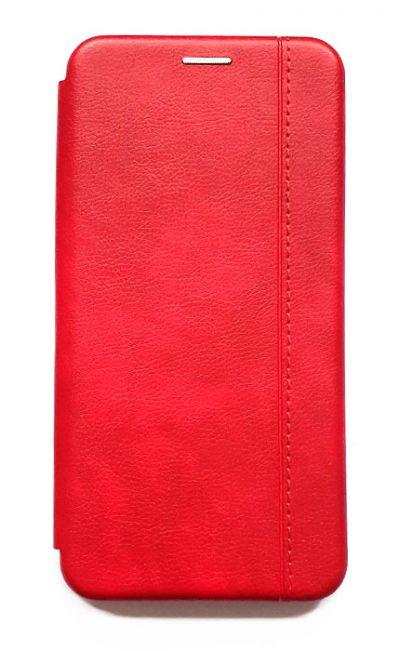Чехол - книжка для Xiaomi Mi Note 10 Lite полиуретан Fashion Case Red