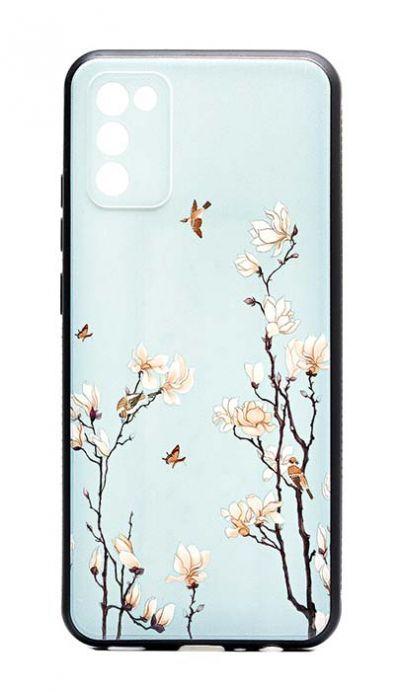 Чехол - накладка для Samsung A02s силикон Birds and Flowers