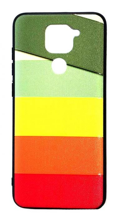 Чехол - накладка для Xiaomi Redmi Note 9 силикон Colored Lines Fhorme