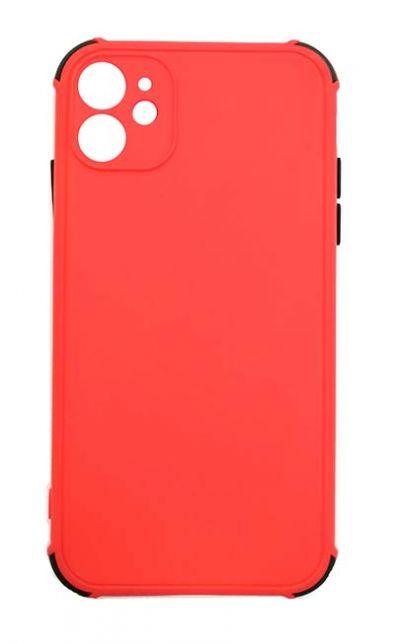 Чехол - накладка для iPhone 11 силикон Colored Bumpers red