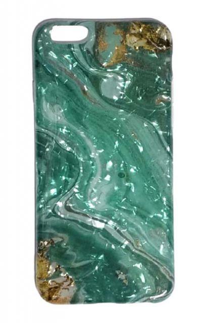 Чехол - накладка для iPhone 6 / 6S силикон ST Marble Blue №3