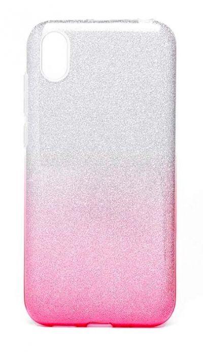 Чехол - накладка для Honor 8S / Huawei Y5 (2019) силикон Gradient Tinsel Pink