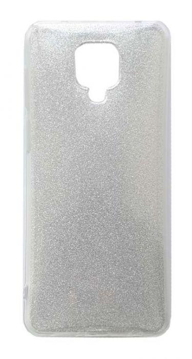 Чехол - накладка для Xiaomi Redmi Note 9 Pro / Note 9S силикон Glamour Silver