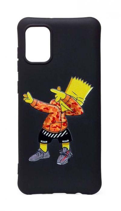 Чехол - накладка для Samsung A51 силикон Bart Simpson