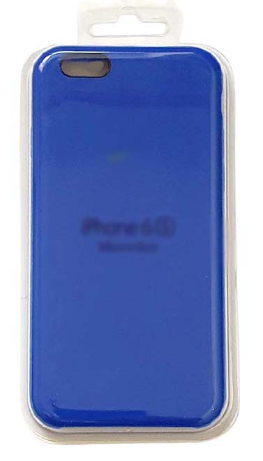 Чехол - накладка для iPhone 6 / 6S Plus Silicone Case Dark Blue